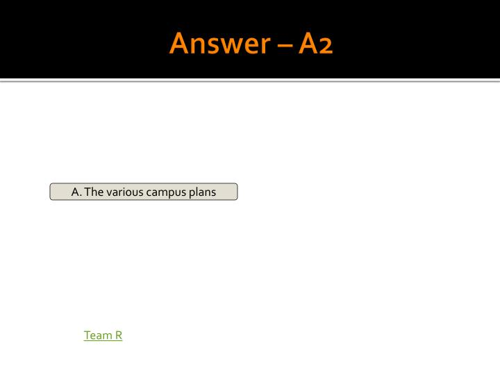 Answer – A2