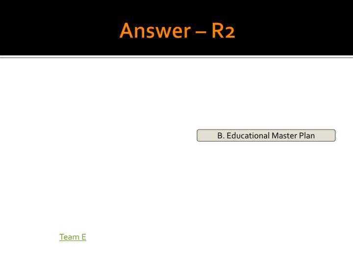 Answer – R2