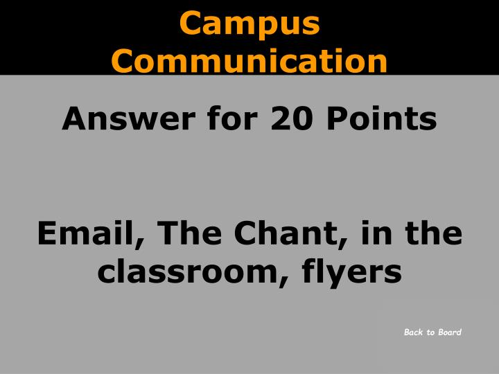 Campus Communication