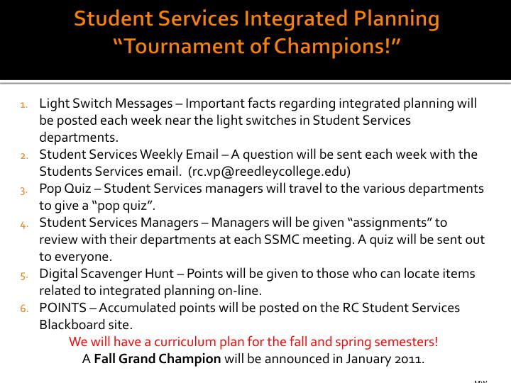 Student Services Integrated
