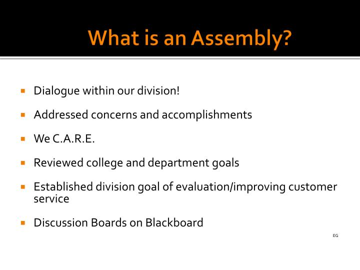 What is an Assembly?
