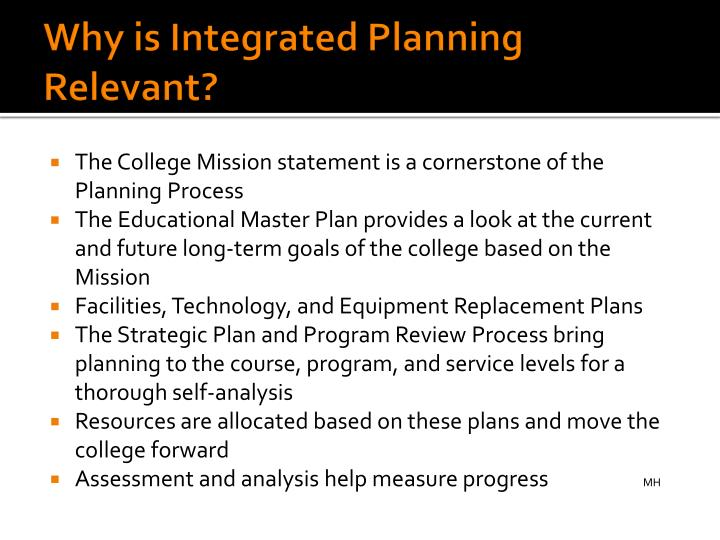 Why is Integrated Planning Relevant?