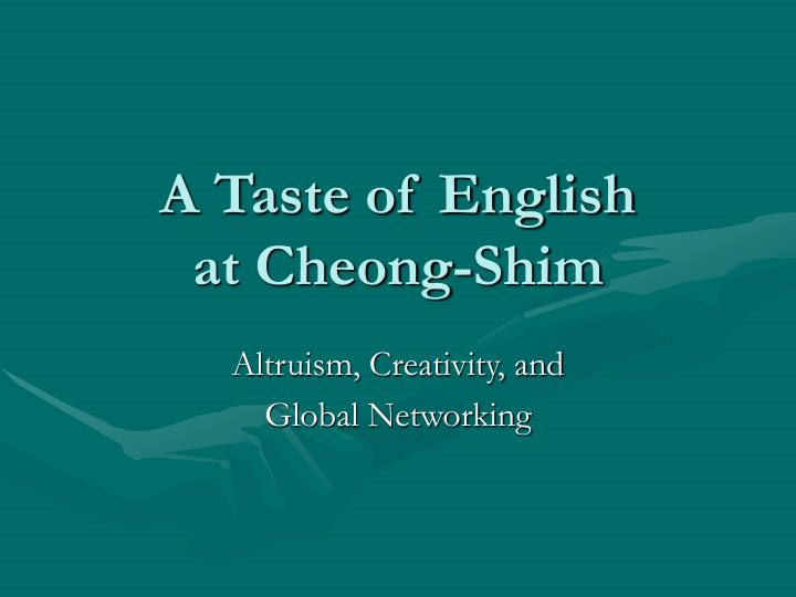 A taste of english at cheong shim