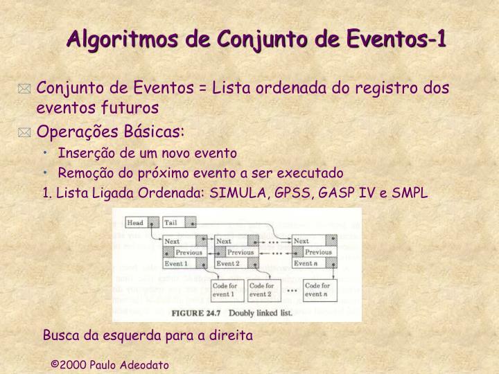 Algoritmos de Conjunto de Eventos-1