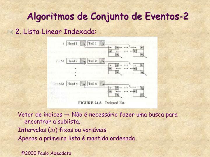 Algoritmos de Conjunto de Eventos-2