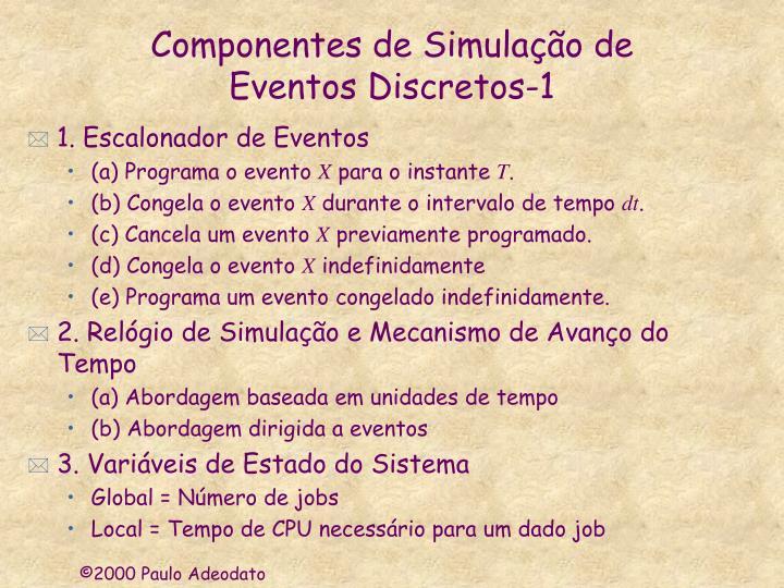 Componentes de Simulação de
