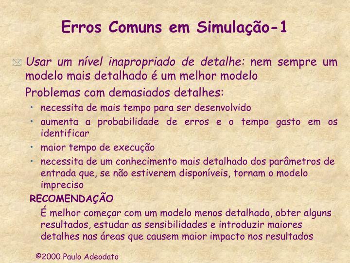 Erros Comuns em Simulação-1