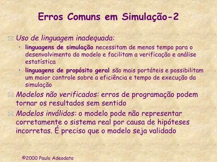 Erros Comuns em Simulação-2