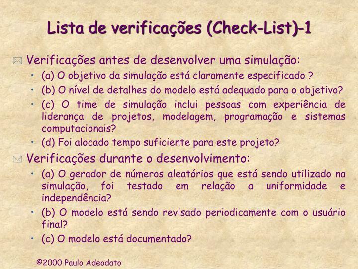 Lista de verificações (Check-List)-1