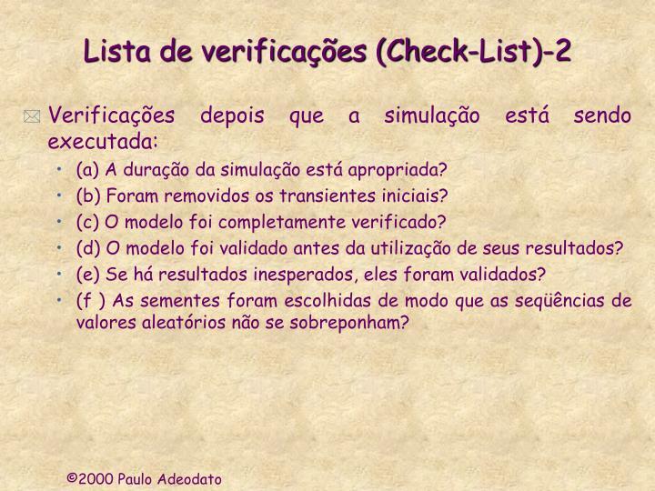 Lista de verificações (Check-List)-2