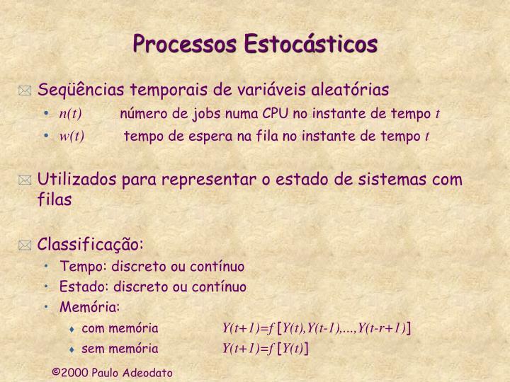Processos Estocásticos