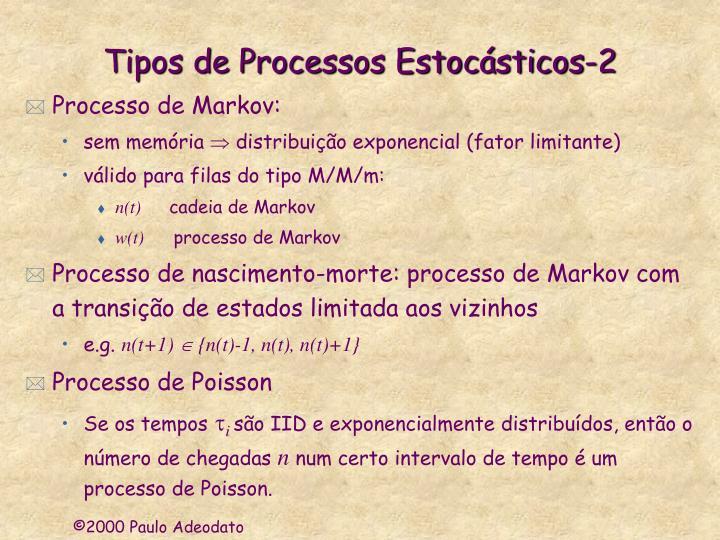 Tipos de Processos Estocásticos-2