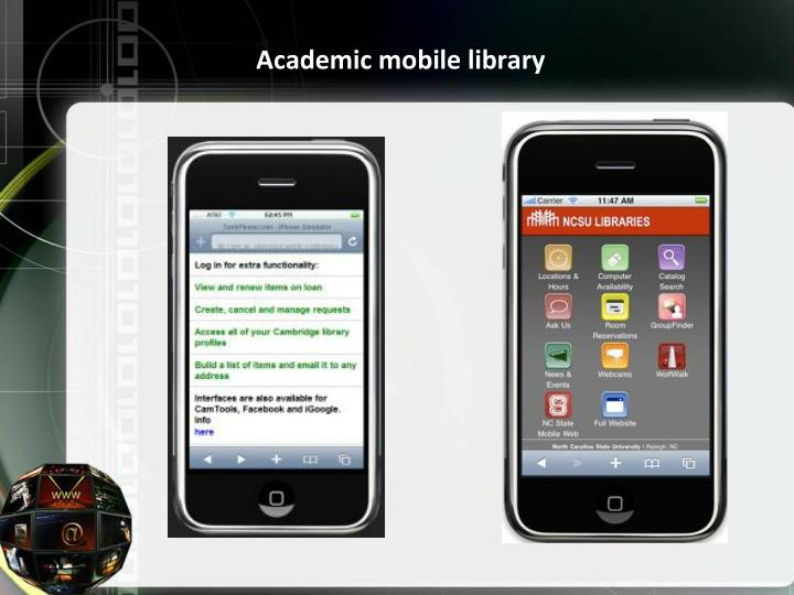 Academic mobile library