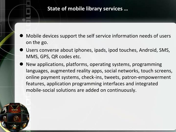 State of mobile library services …