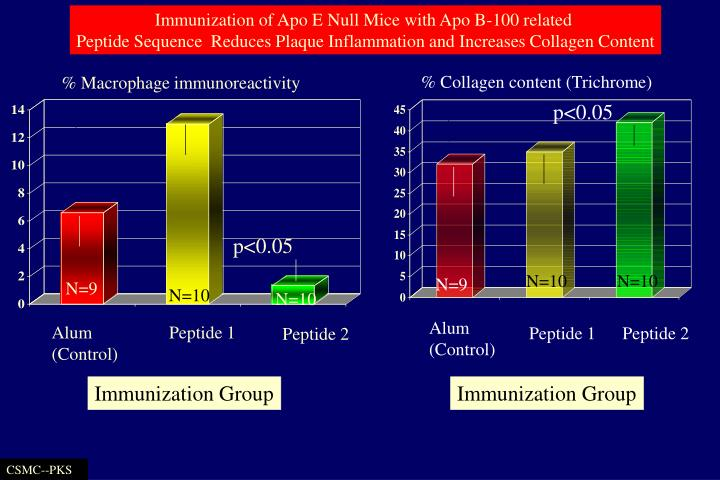 Immunization of Apo E Null Mice with Apo B-100 related