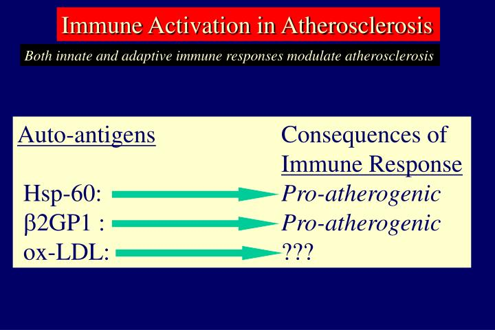 Immune Activation in Atherosclerosis