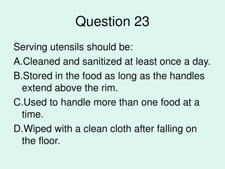 Question 23