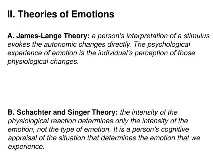 II. Theories of Emotions