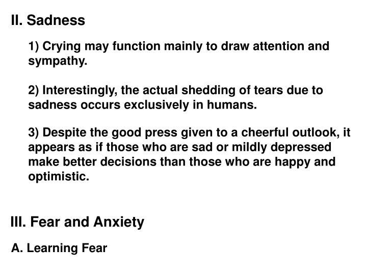 II. Sadness
