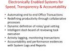 electronically enabled systems for speed transparency accountability