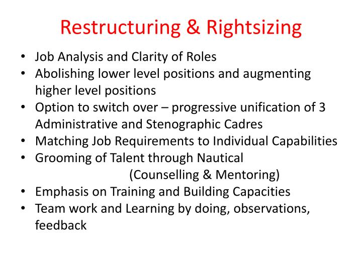 Restructuring & Rightsizing