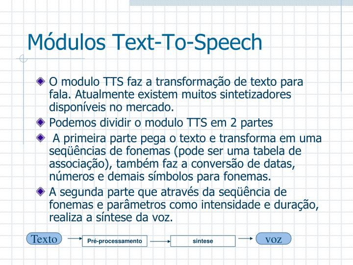 Módulos Text-To-Speech