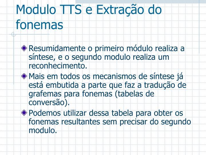 Modulo TTS e Extração do fonemas