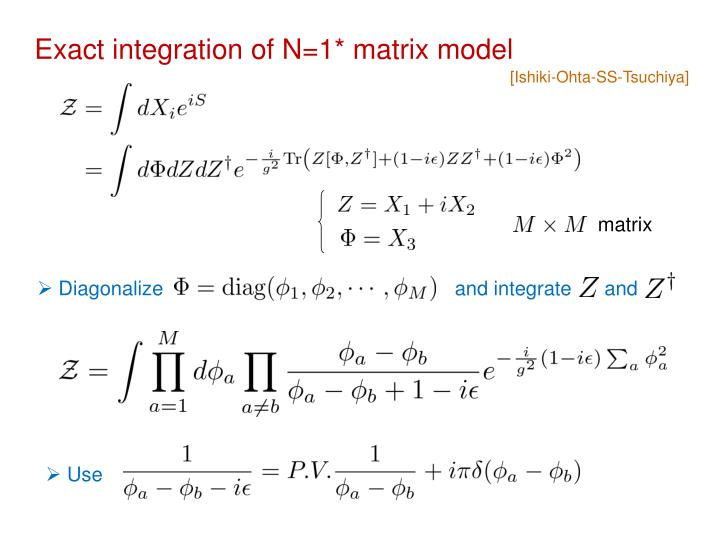 Exact integration of N=1* matrix model