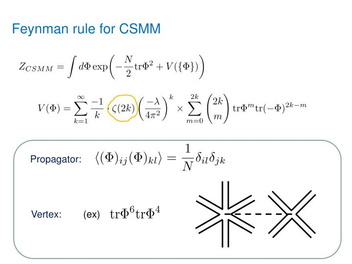 Feynman rule for CSMM