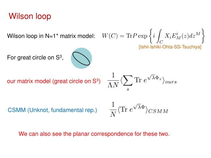Wilson loop