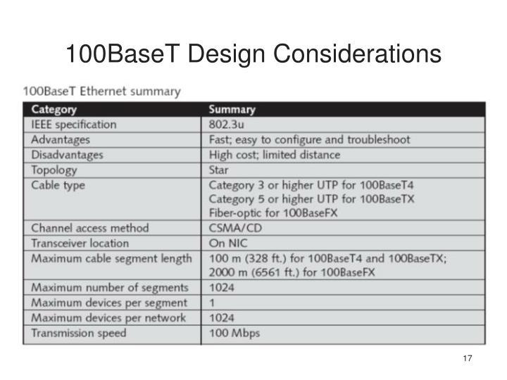 100BaseT Design Considerations