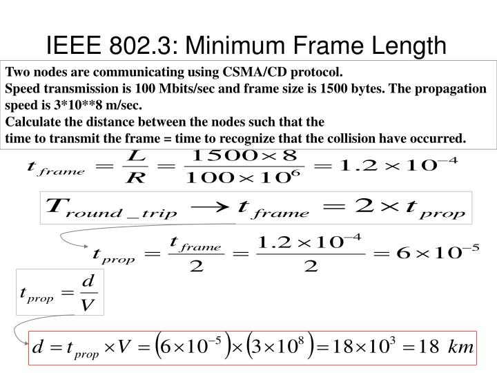 IEEE 802.3: Minimum Frame Length