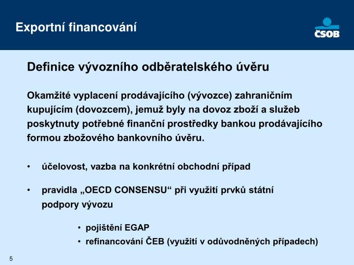 Exportní financování