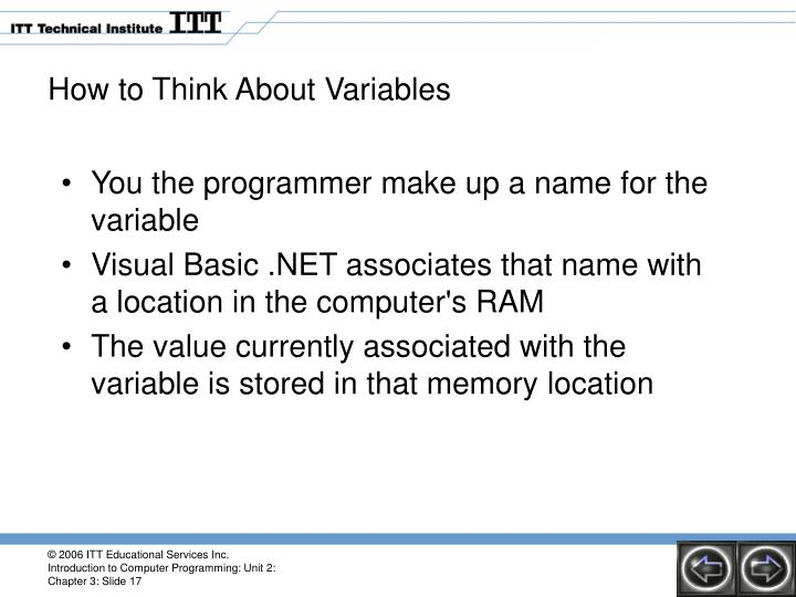 How to Think About Variables