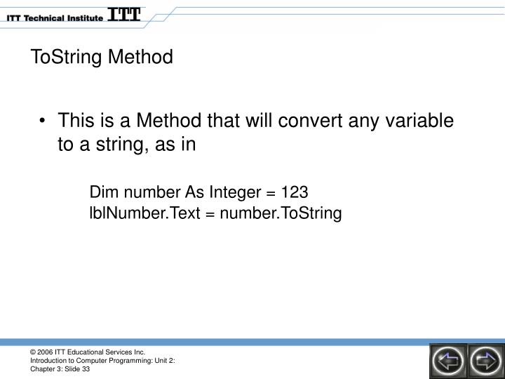 ToString Method