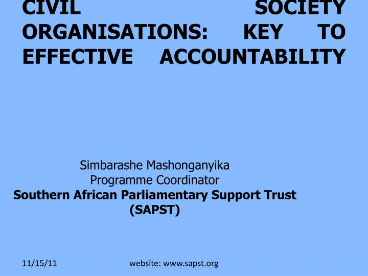 Pac relationship with the civil society organisations key to effective accountability