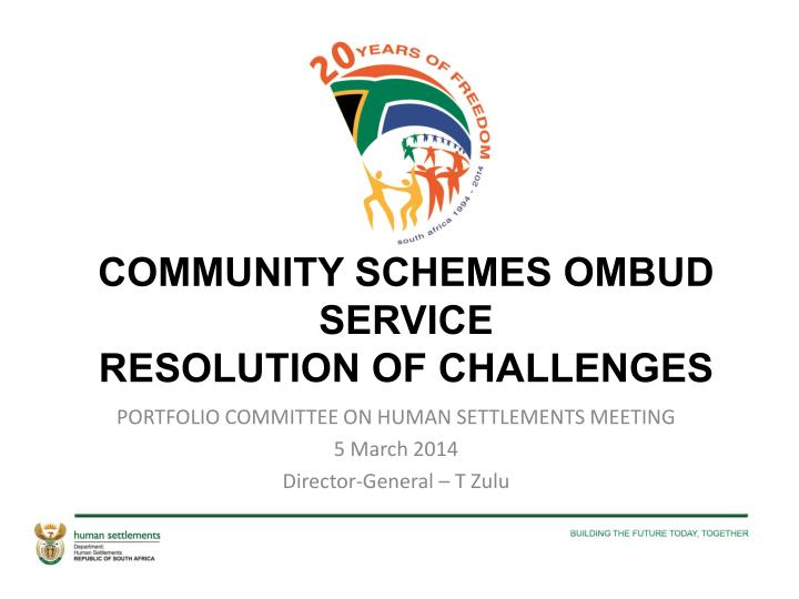 Community schemes ombud service resolution of challenges