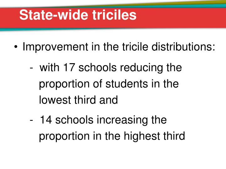 State-wide triciles