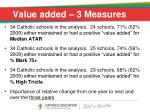 value added 3 measures