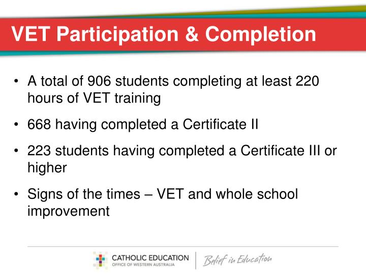 VET Participation & Completion