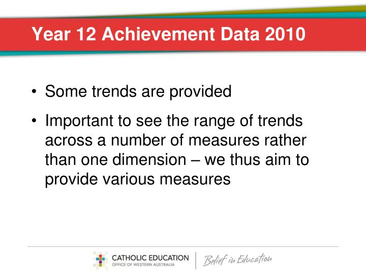 Year 12 Achievement Data 2010