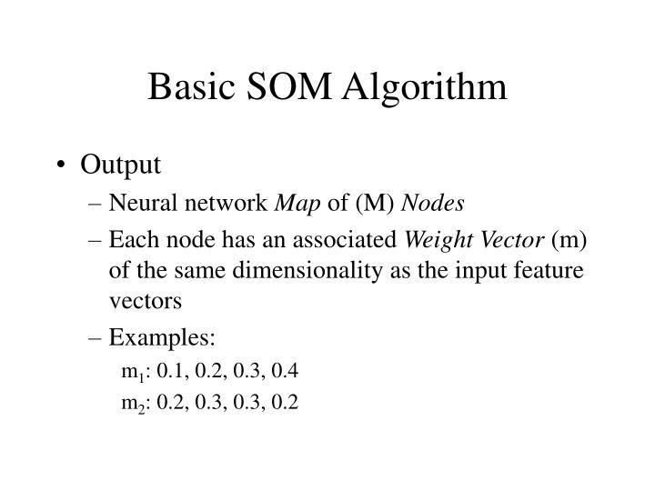 Basic SOM Algorithm
