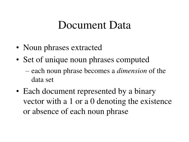 Document Data