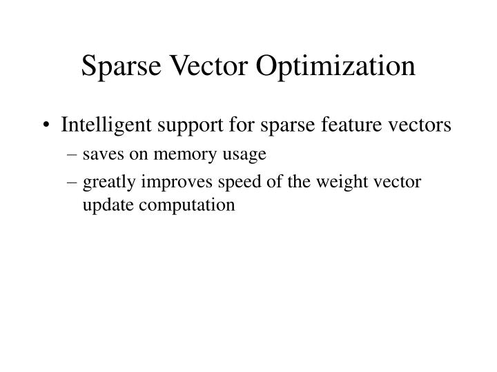 Sparse Vector Optimization