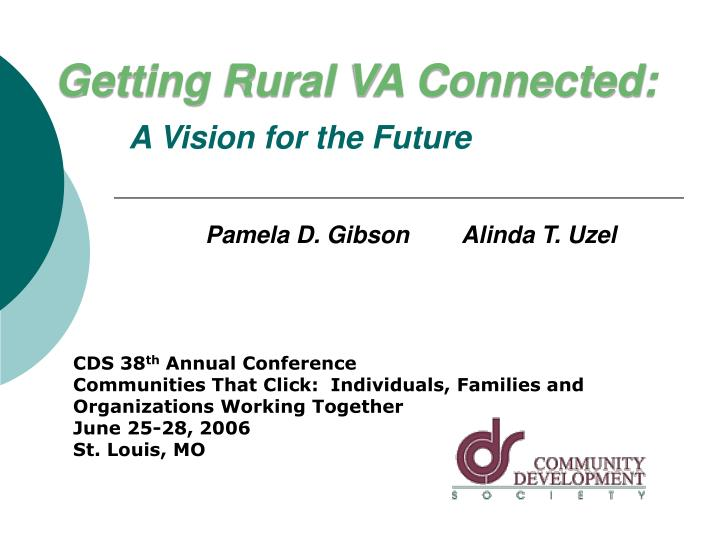 Getting rural va connected a vision for the future