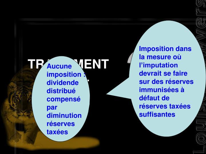 TRAITEMENT FISCAL