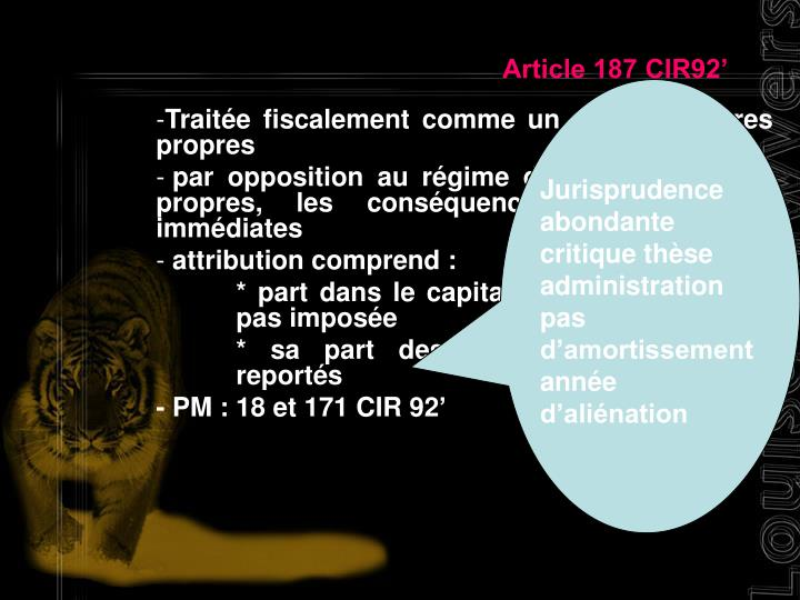 Article 187 CIR92