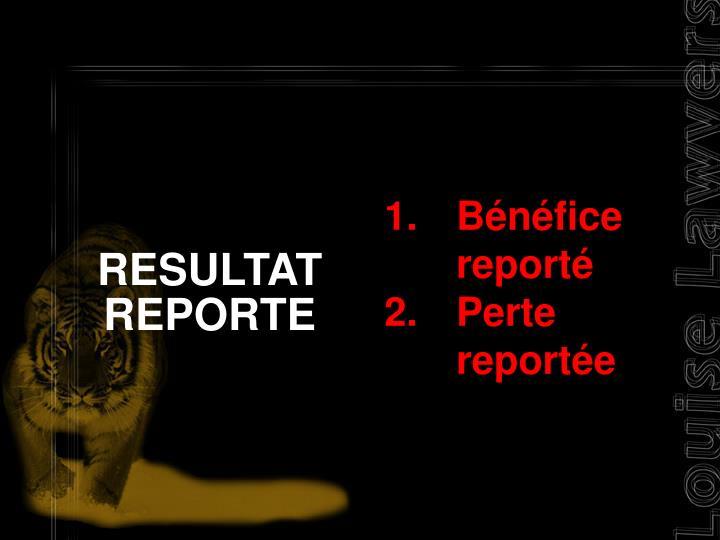 RESULTAT REPORTE