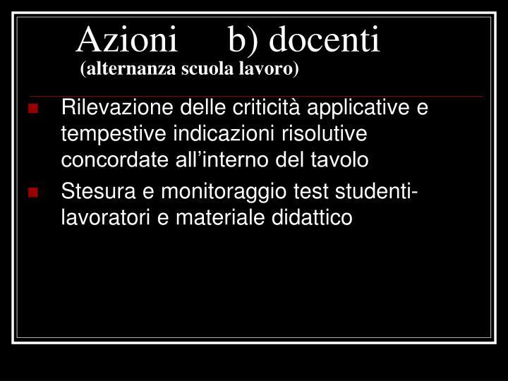 Azioni b) docenti