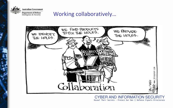 Working collaboratively…
